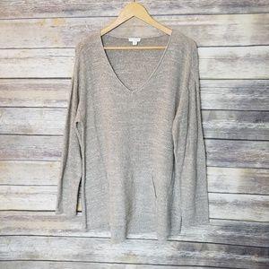 Pure Jill 100% Cotton Thin Knit Oversized Sweater